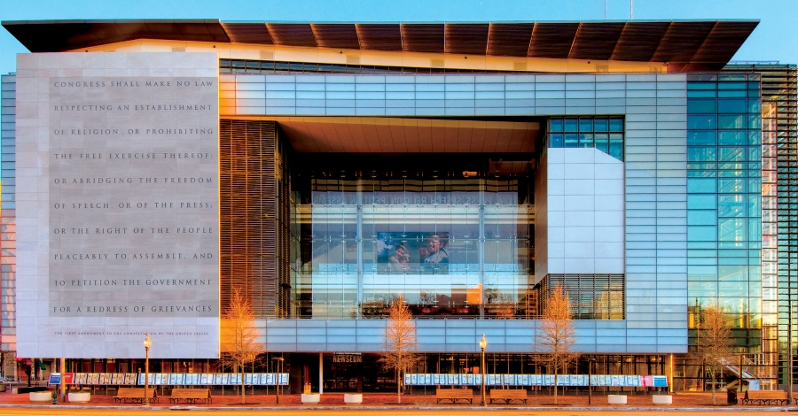 Picture of exterior of the Newseum in Washington, DC