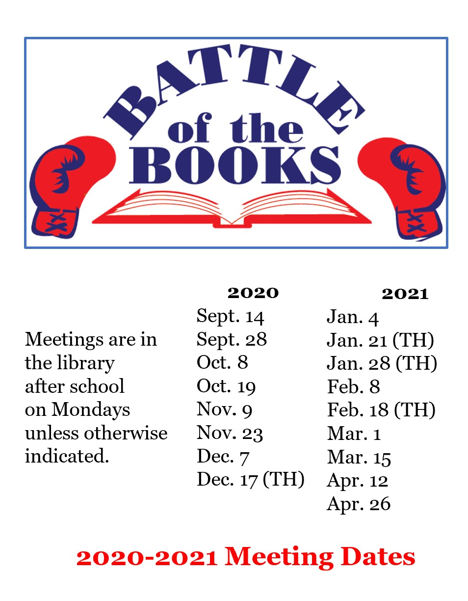 Battle of the Books meeting dates